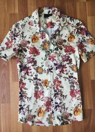 Рубашка asos. рубашка в цветы . молочная рубашка