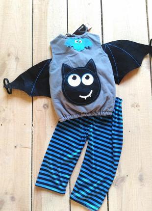 Карнавальный костюм на хэллоуин летучая мышь вампир 1-2 года