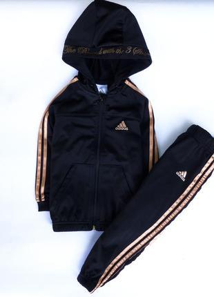 Спорт костюм adidas   1-2 года   черный