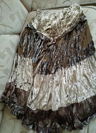 Бархатная нарядная юбка