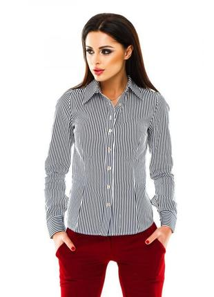 Актуальная рубашка полосатая в полоску на запонки.