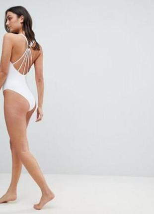 Крутой купальник asos tall strappy ring back swimsuit