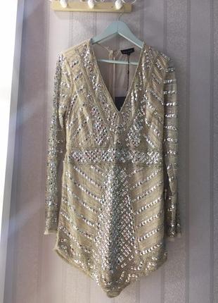 Шикарное вечернее выпускное коктейльные роскошное платье премиум коллекции missguided asos3 фото