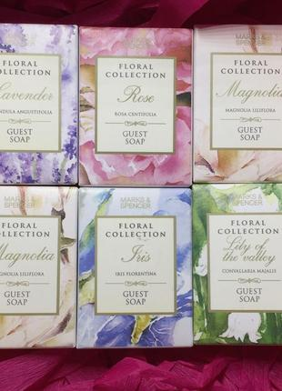 Набор из 6 мыл marks and spencer floral collection