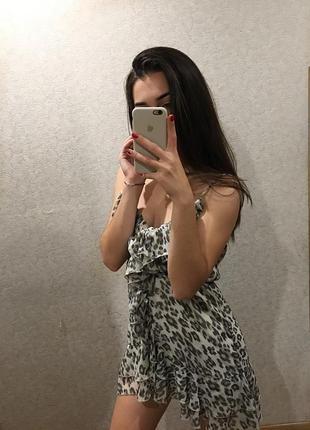 Платье тренд, леопардовый принт
