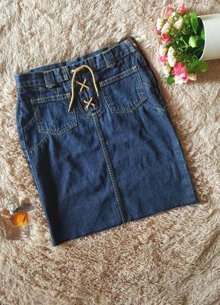 Юбка джинсовая next с высокой талией