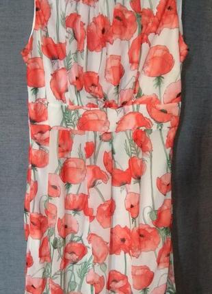 Платье incity украшенное красными маками