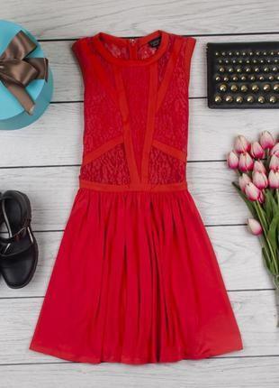 Платье с гипюровыми вставками от topshop размер uk 8 наш р. 421 фото