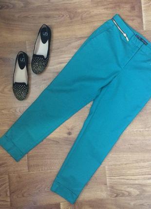 Укороченные брюки zara с завышенной талией