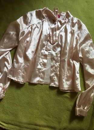 Шикарная атласная блуза boohoo