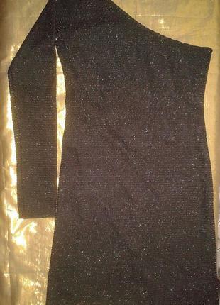 Приталенное платье zara с мерцающими частицами s