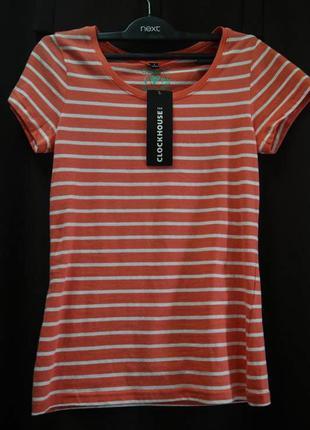 Хлопковая новая футболка от голландского бренда c&a