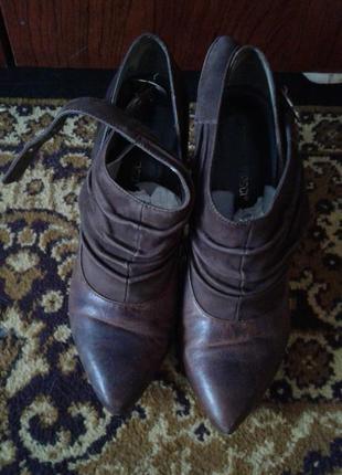 Ботинки натуральная кожа/замша  р.36