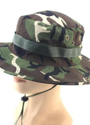 Солнцезащитная шляпа прогулочная панама унисекс комуфляжный  принт