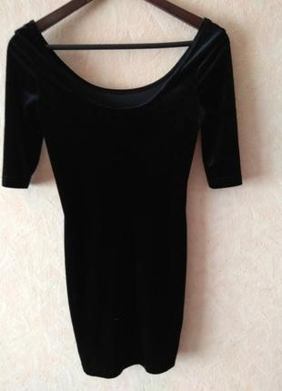 Чорне бархатне плаття/платье