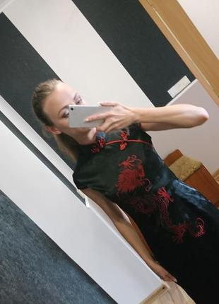Шёлковое платье в японском стиле