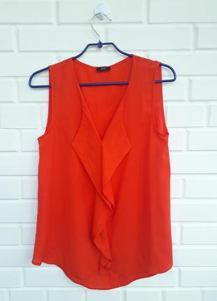 Яркая блуза с воланами рюшами рубашка  топ майка сорочка1 фото
