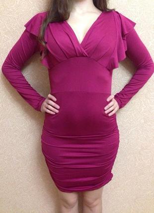 Платье с рюшами на пышную грудь