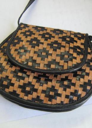 Кошелек на длинной ручке, сумка-карман монетница, натуральная кожа