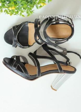 Кожаные босоножки, натуральная кожа, зеркальный каблук,бренд atelier do sapato