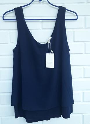 Новая блуза рубашка  топ майка сс оригинальной спинкой.