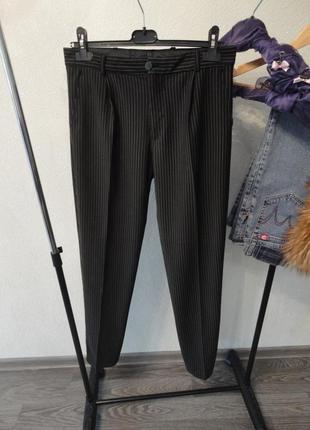 Классические штаны, брюки в полоску 44-46