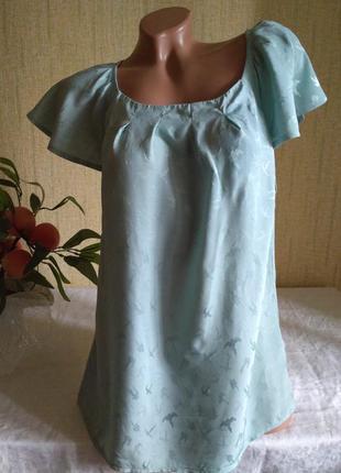 Блуза 100% вискоза -цвета мяты