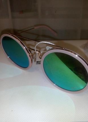 Женские круглые очки в стиле celine