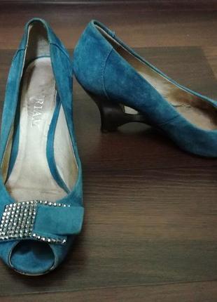 Босоножки myriam, туфли замшевые