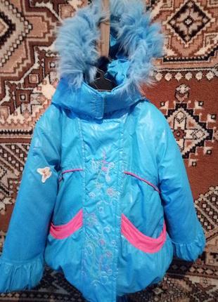 Зимовий комбінезон з курткою, для дівчинки 2-4 років