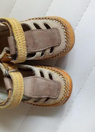 Кожаные сандали ортопедическая подошва