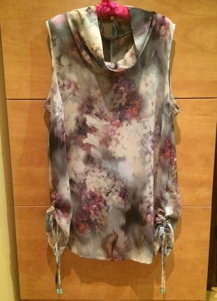Блуза майка туника пляжное платье парео rinascimento италия оригинал100%