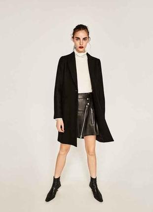 Модное шерстяное пальто zara оригинал новое