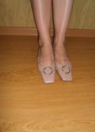 Качественные туфельки/100%нат.кожа/vero cuoio/24,5 см/37 1/2