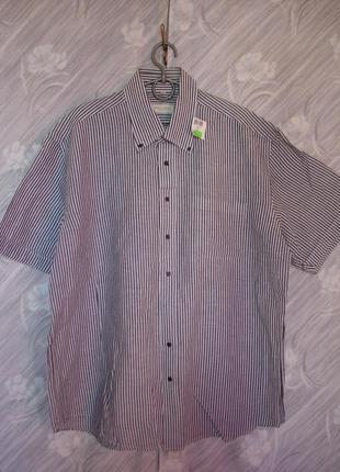 "Льняная рубашка с коротким рукавом ""christian berg ""   (54-56 р)    германия"