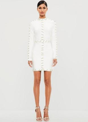 Бандажное утягивающие платье missguided pease+love