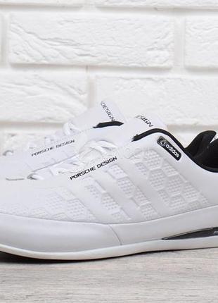 Кроссовки мужские кожаные adidas porsche design белые порше из натуральной кожи