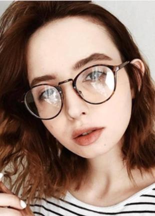 Винтажные имиджевые очки с леопардовой оправой