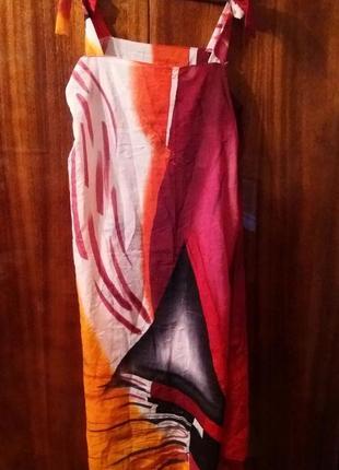 Платье-парео пляжная туника с абстрактным узором ashma