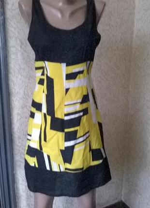 Котоновое легкое  платье на жару  ,10 размер