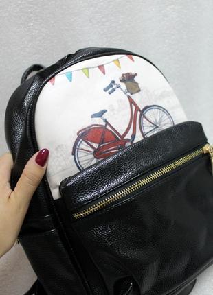 Рюкзак, ранец, городской рюкзак, женский рюкзак, эко кожа, велосипед