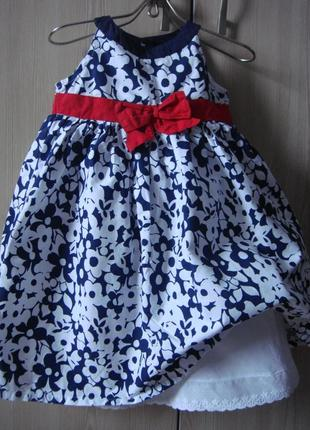 Платье нарядное девочке 12-18 мес matalan