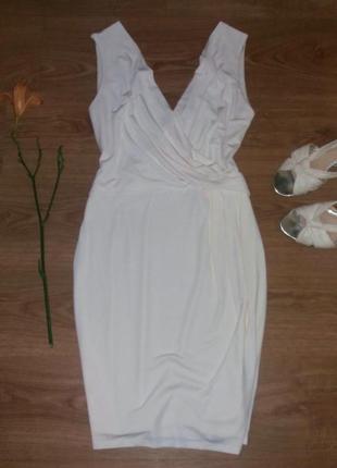 Платье кремового цвета по фигуре h&m размер l