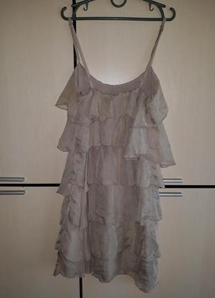 Шелковое платье 100% шелк италия