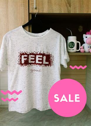 Sale✔ белая футболка feel
