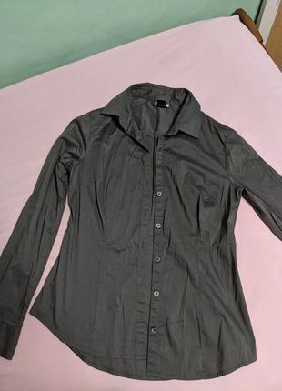 Серая рубашка h&m