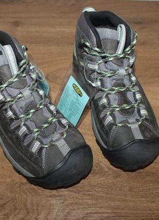 Треккинговые ботинки keen targhee ii mid wp raven dark gray hiking trail boots