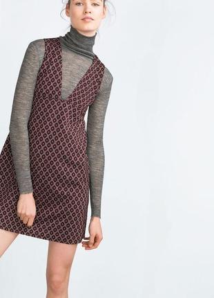Платье,сарафан в принт zara