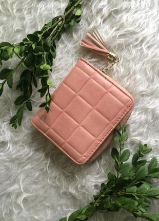 Нежный розовый пудровый нюдовый кошелек accessorize