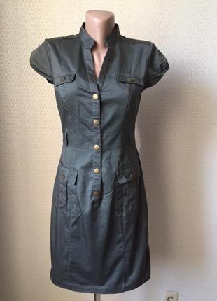 Классное летнее платье в стиле сафари от h&m, размер нем 36, укр 42-44